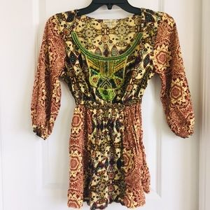 One World women's Blouse 3/4 sleeve size small